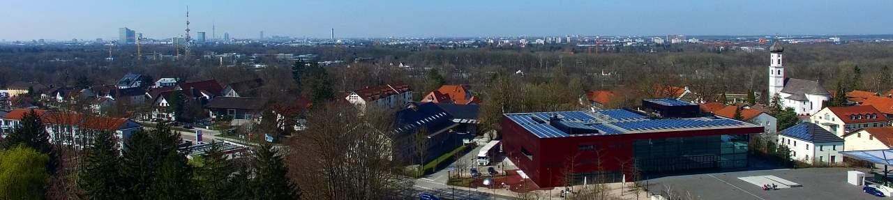 Drohnenaufnahmen Unterföhring bei München
