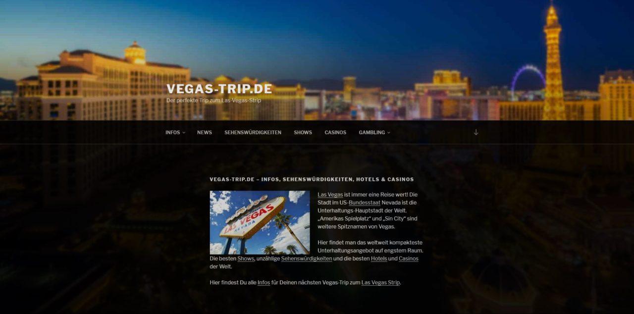 Vegas-trip.de Startseite als Banner