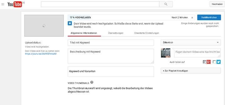 Youtube Tools Video Hochladen