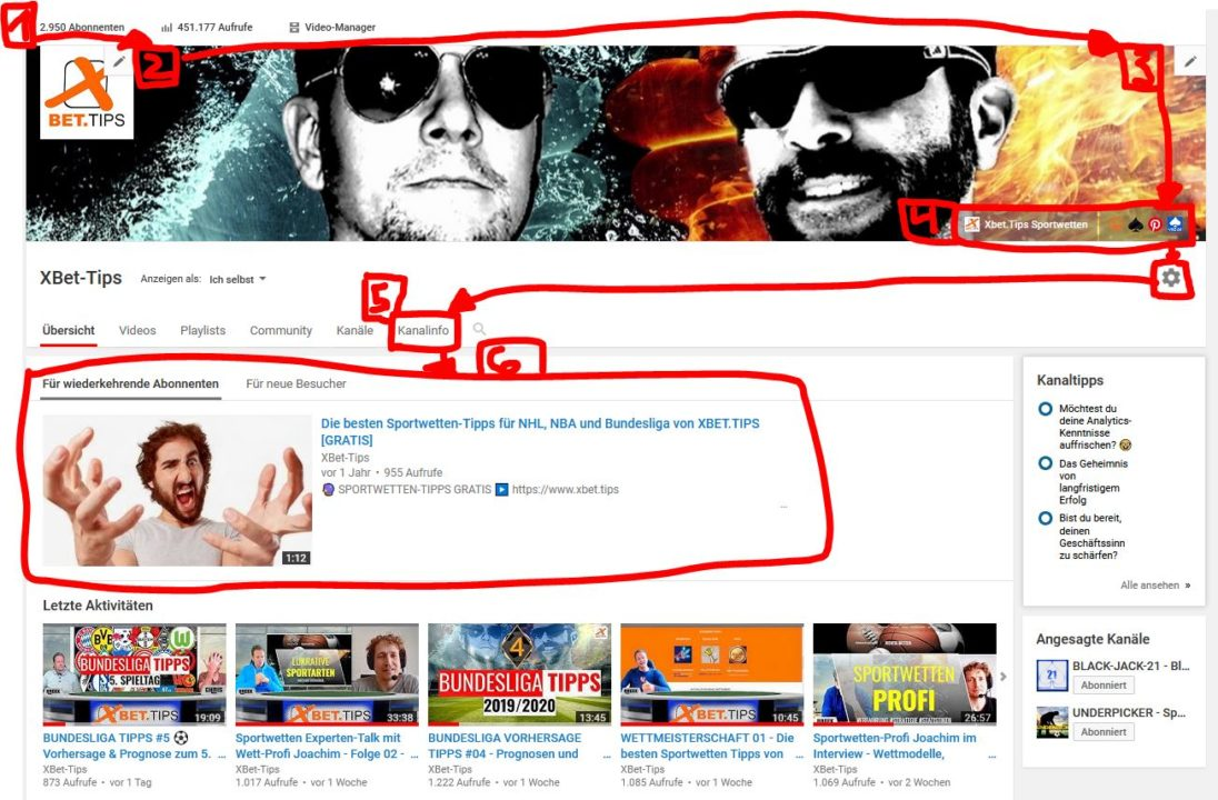 Youtube Kanal - Google Profil Einstellungen