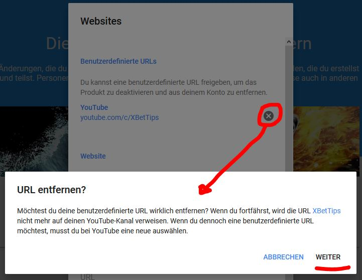 Youtube Kanal URL ändern