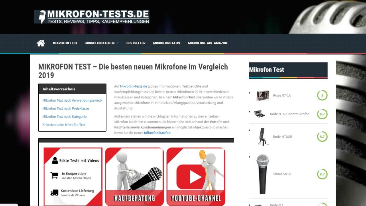Mikrofon Test Webseite