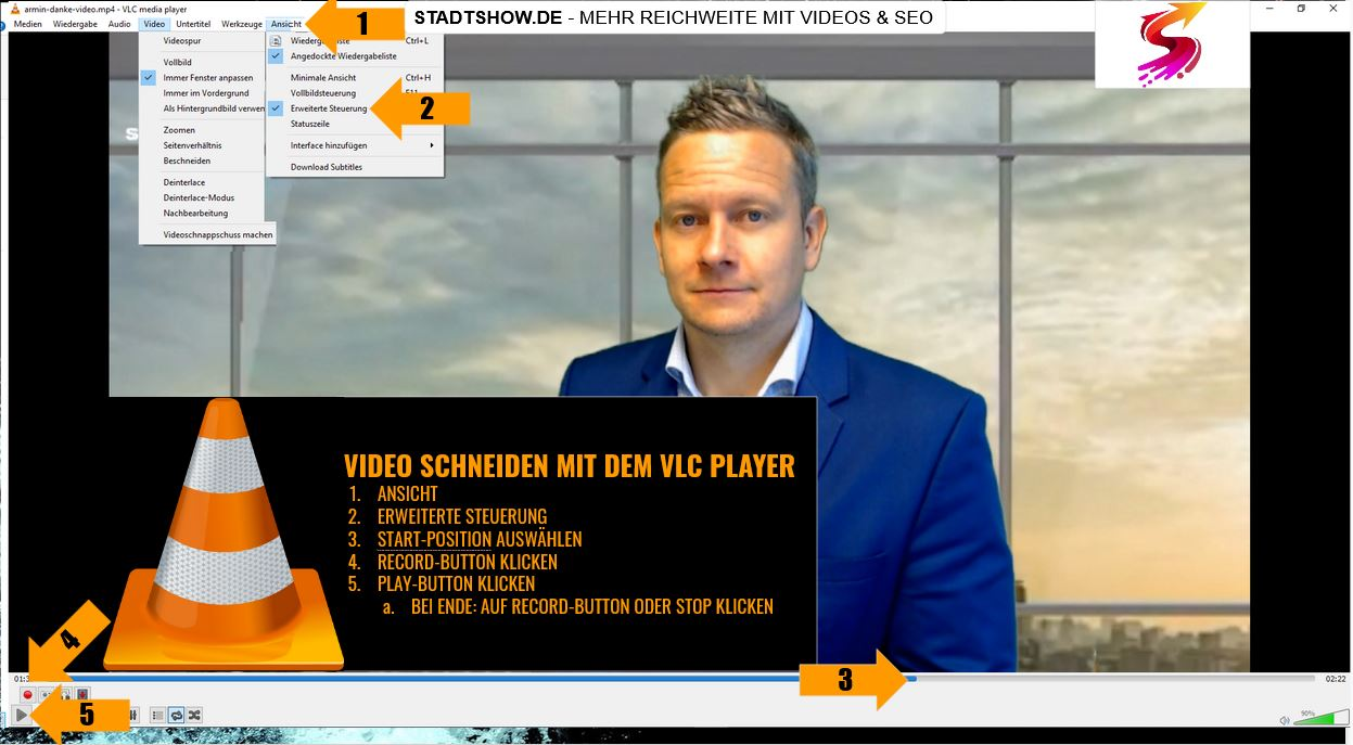 Videos schneiden mit VLC Player