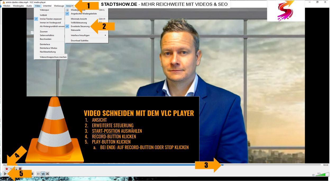 Videos schneiden mit VLC Player