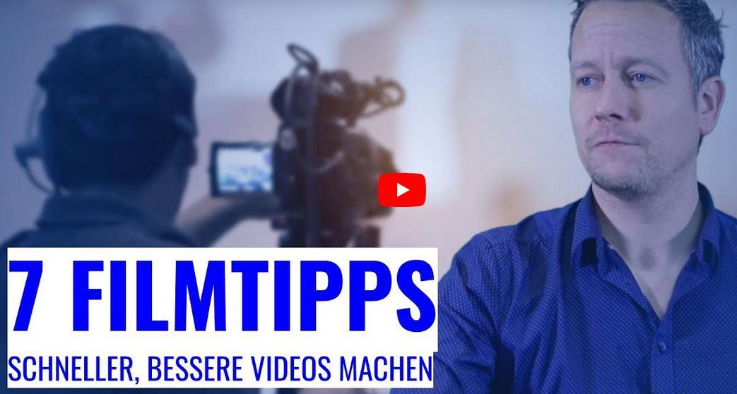 Filmen lernen - 7 Tipps für bessere Videos