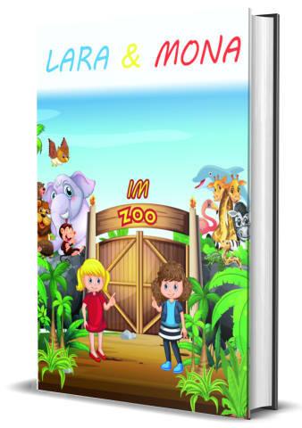 Kinderbuch Selbstverlag Lara und Mona im zoo