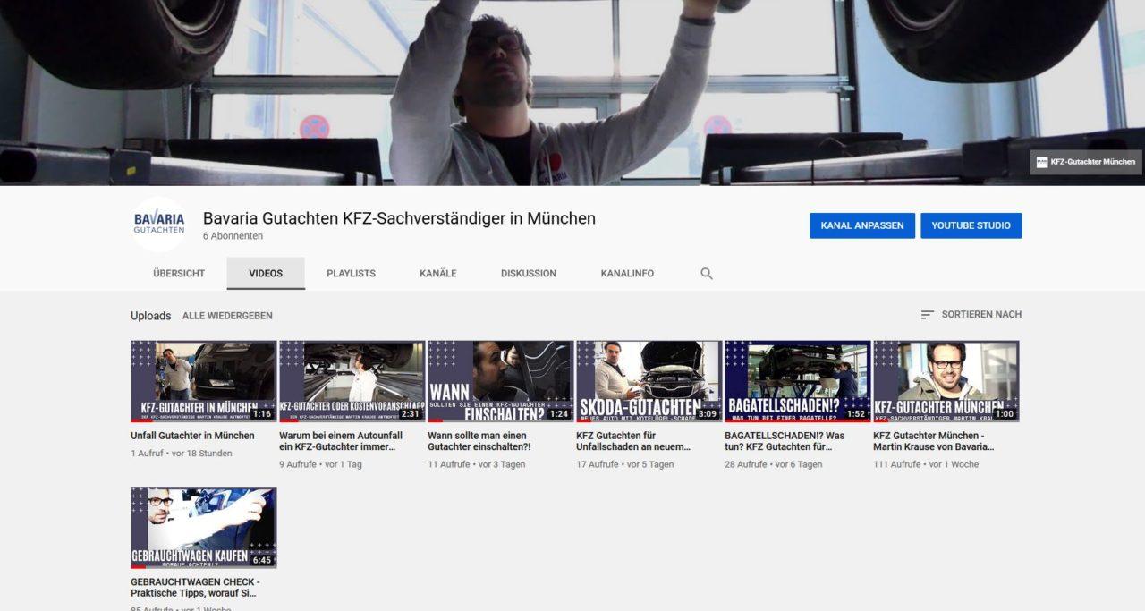 Video-SEO-Strategie für KFZ-Gutachter in München 1