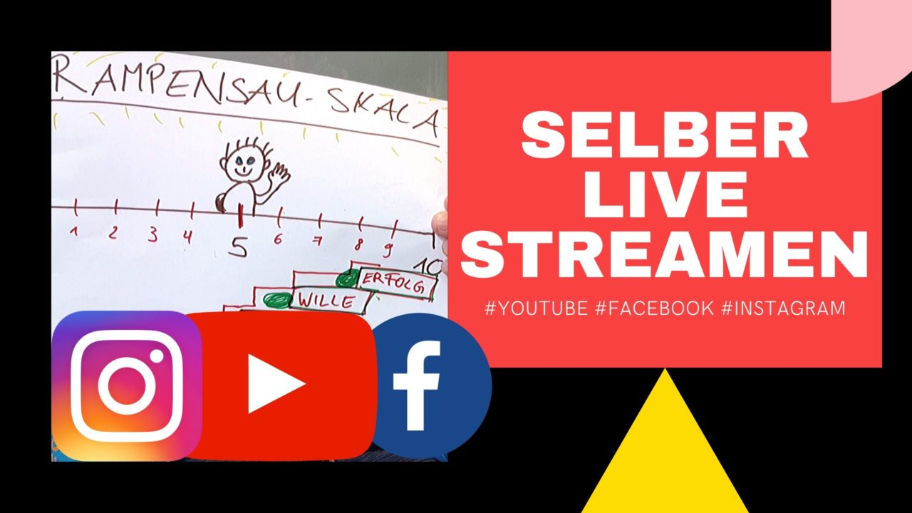 Selber Live Streamen auf Youtube Facebook Instagram