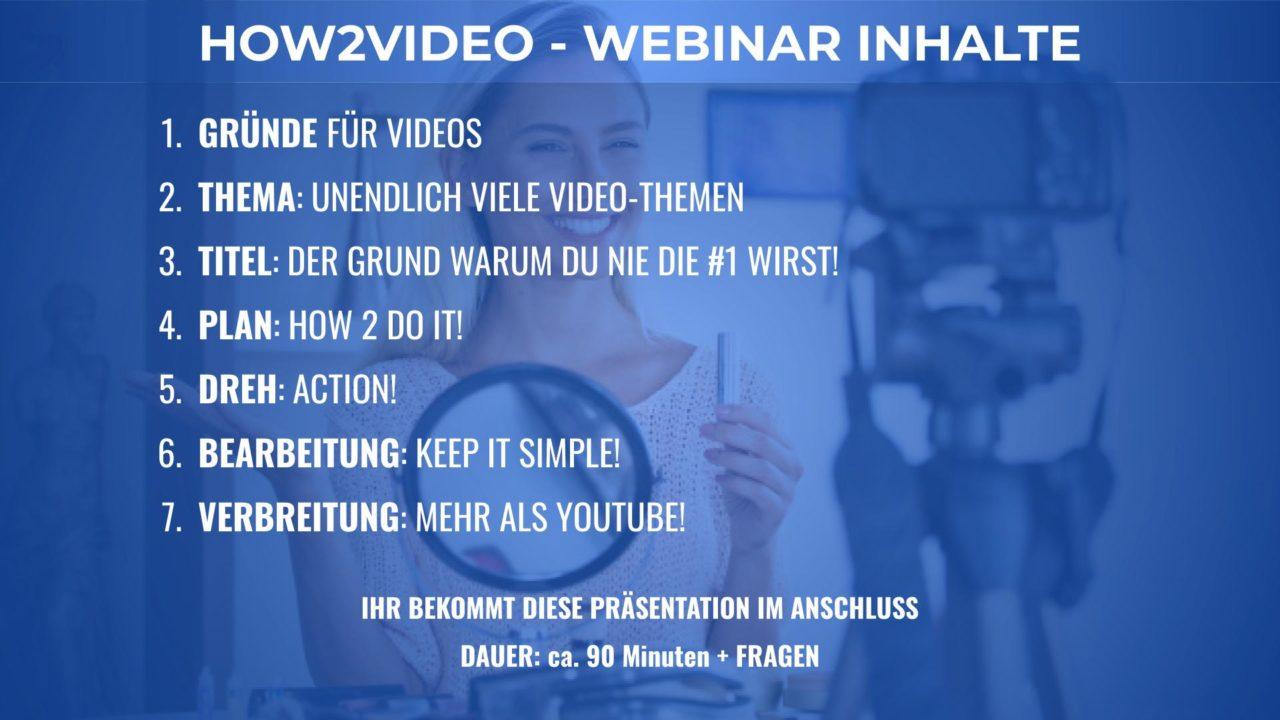 How2Video Webinar Inhalt