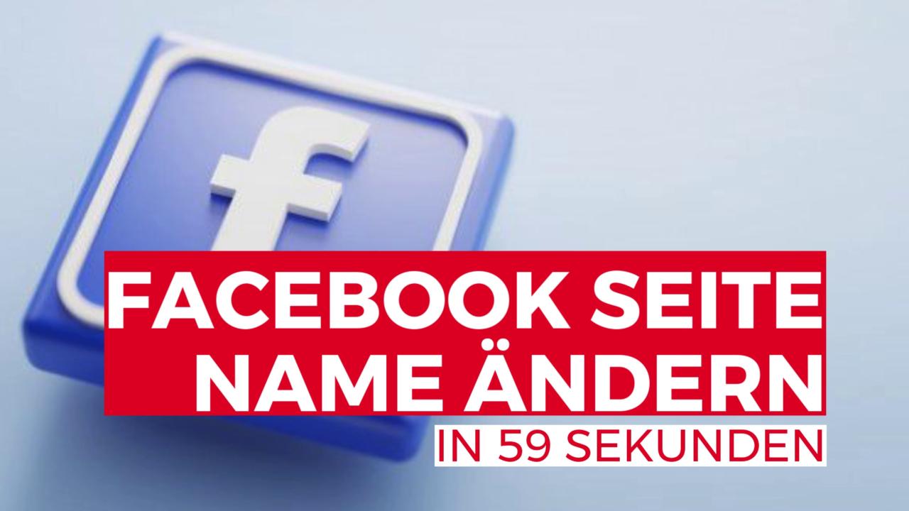 Facebook Seite Name ändern