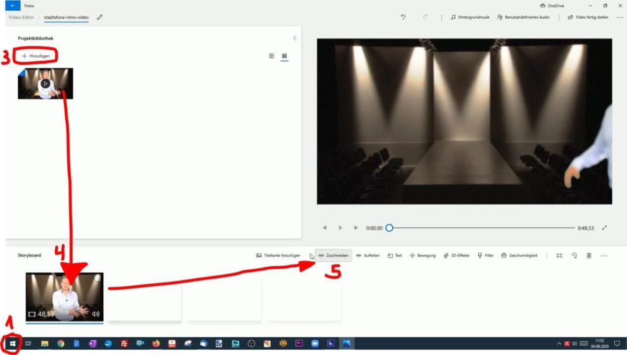 Video schneiden Windows 10 Editor
