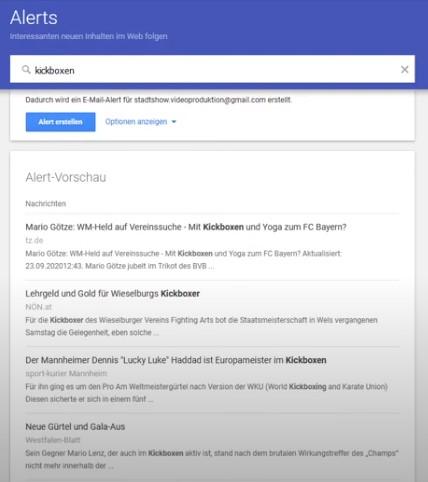 Google News E-Mail Allert