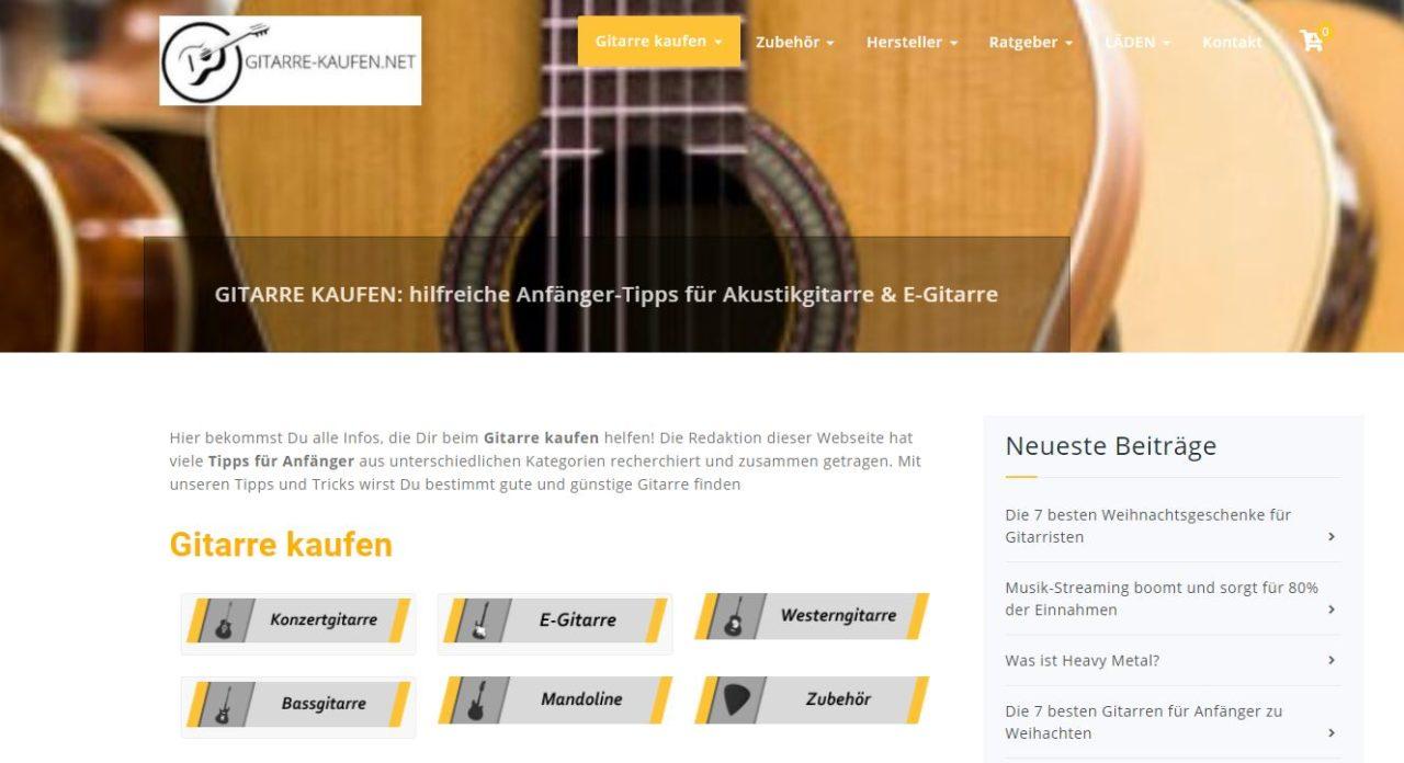 Gitarre kaufen - SEO-Projekt