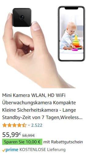 Versteckte Kamera Wifi im Test