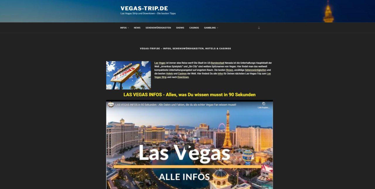 Vegas Trip - SEO-Webseite
