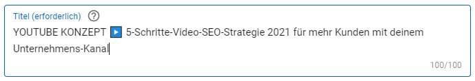 YouTube Video Titel SEO optimieren