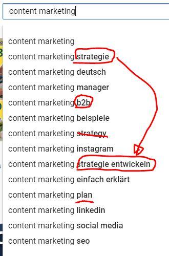 Content Marketing YouTube Suche