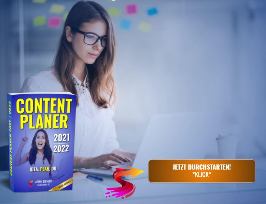 Content Planer 2021/2022 mit Content Kalender bestellen