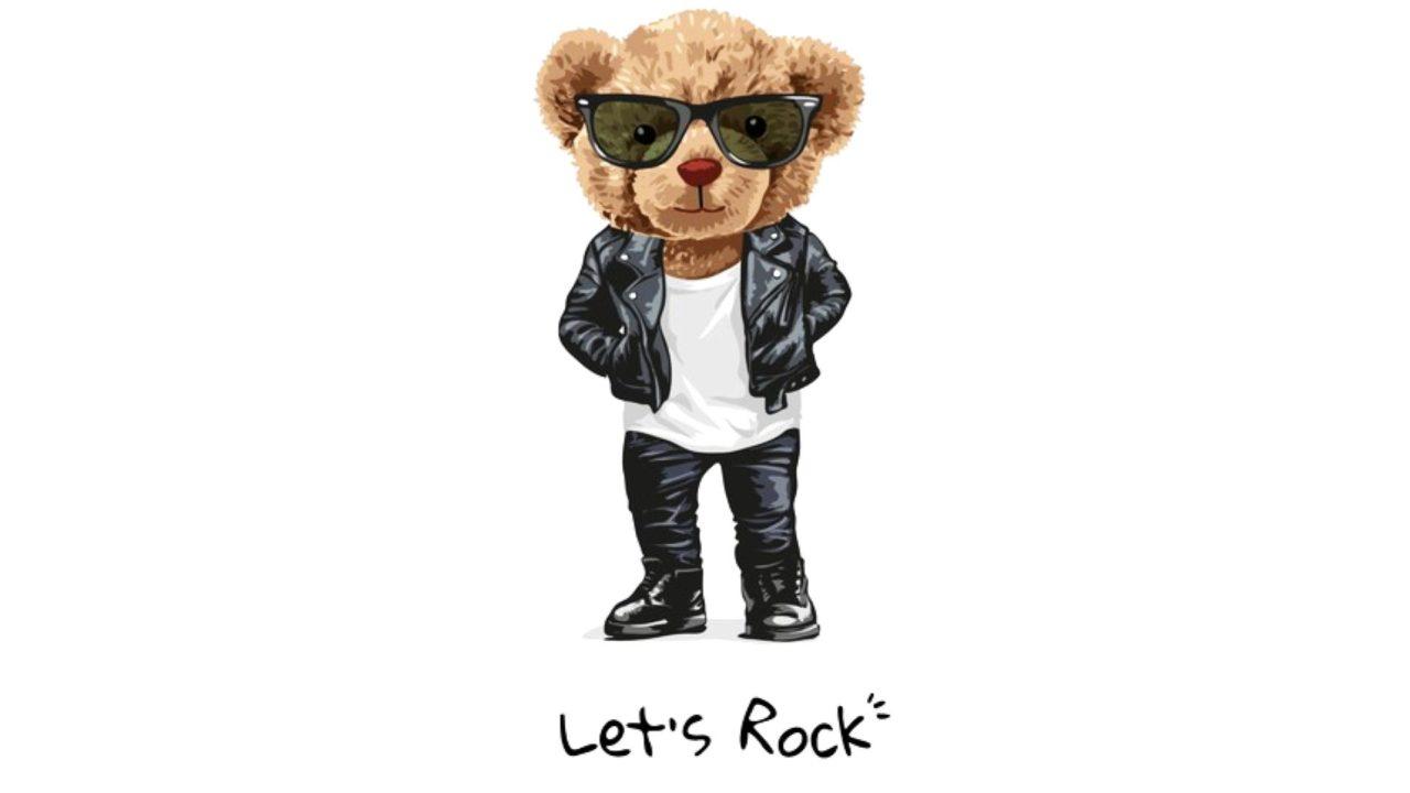 Rocker-Teddycontentbär